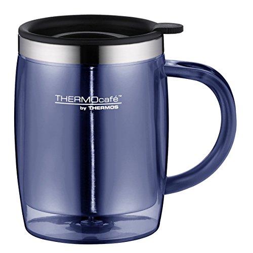 ThermoCafé by THERMOS 4059.256.035 Bürotasse Desktop Mug, Kunststoff Blau 0,35 l, BPA-Free