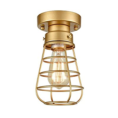 Ceiling Lights Mini Metal Cage Flush Mount Ceiling Lighting