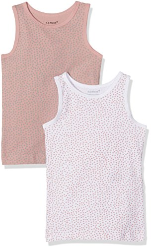 Name It Nmftank Top 2p Noos Maillot De Corps, Multicolore (Rose Tan Rose Tan), 104 (Lot de 2) Bébé Fille
