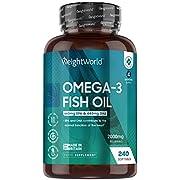 Omega 3 Olio Di Pesce 2000mg - 240 Softgels Capsule (Fornitura per 4 Mesi) - Per Cuore, Occhi e Cervello - 660mg di EPA e 440mg di DHA - Omega 3 Fish Oil Uomo e Donna - 100% Naturale Senza Glutine