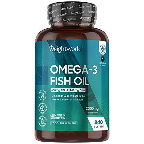 Omega 3 Cápsulas de Alta Dosis 2000mg,...