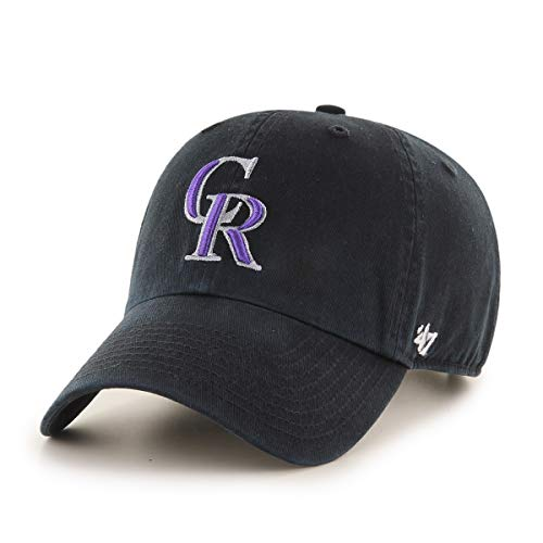 MLB Colorado Rockies '47 Brand Clean Up Adjustable Hat, One Size