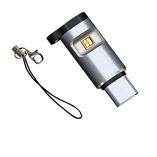 Esterilizador UV, mini lámpara de desinfección UV, portátil, luz de desinfectante ultravioleta USB instantánea, interfaz USB C, lámpara germicida UV, para taza, teléfono, asiento de inodoro