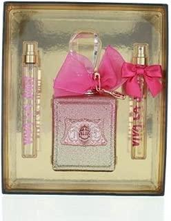 Viva La Juicy Rose by Juicy Couture Gift Set for Women - Eau de Parfum, 100 ml - 10 ml - 10 ml, 3 Count