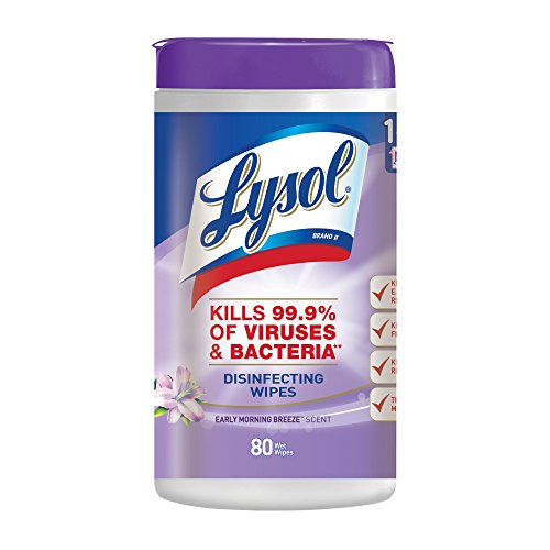 Lysol Tough Cleaning Power Disinfecting Wipes, Early Morning Breeze Scent, 80 Count