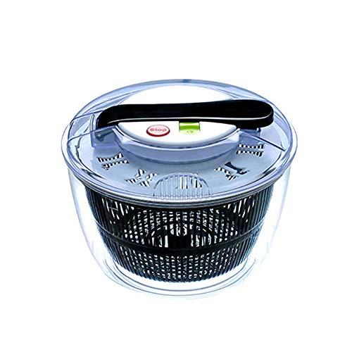 Ensalada de plástico Spinner hoja secador lechuga Veg escurridor, multi funcional ensalada Spinner vegetal rallador de frutas, fácil giro para lavar y secar verduras