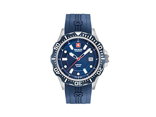 SWISS MILITARY-HANOWA Herren Analog Quarz Uhr mit Silikon Armband 06-4306.04.003