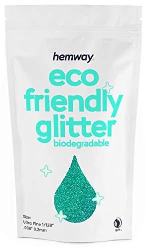 """Hemway Eco-Friendly Biologisch abbaubarer Glitter - Ultrafein 0,2 mm (1/128"""".008"""") - Unze Bio-Kosmetik - 100 g- Holografisches Türkis"""