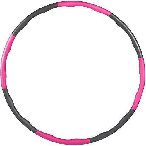 Hula Hoop, Hula Hoop Fitness con 8 Sección, Professional Hula Hoop Ajustable Desmontable y Extraíble, Hula Hoop para Perder Peso, Fitness, Gimnasia Entrenamiento