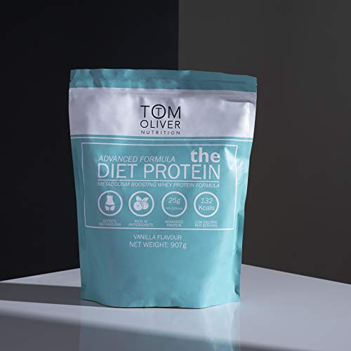 Tom Oliver Nutrition The Diet Protein - Diet Whey Protein Powder 907g - Weight Control Shake for Men & Women | Low Carbs | Great Tasting (Vanilla)