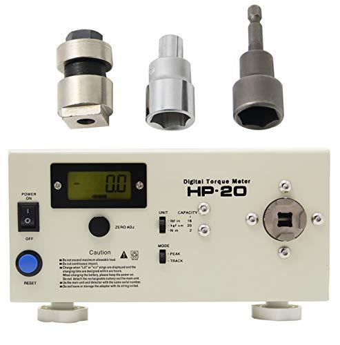 Newtry Zq-10g Affichage digital testeur de torsion/Torque Mètre Torsiometer Dynamomètre manuel portable Torsion par Lots/Clé dynamométrique (en option) avec tête de test (HP-20)