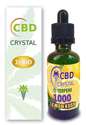E-liquido CBD CRYSTAL1000lemonhaze 50ml - Liquido para Cigarrillo electronico. E-Liquid SIN NICOTINA. Sabor Sativalemon no Nicotine no Tobacco