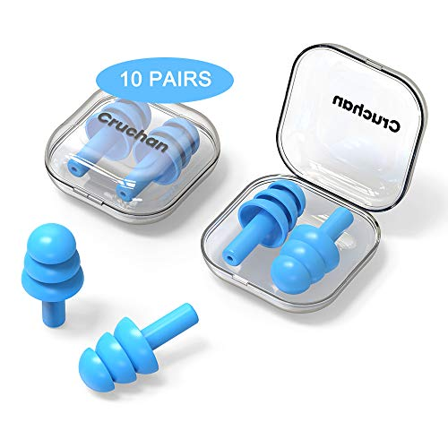 10 Pairs Ear Plugs for Sleeping Noise Cancelling, Swimming,...