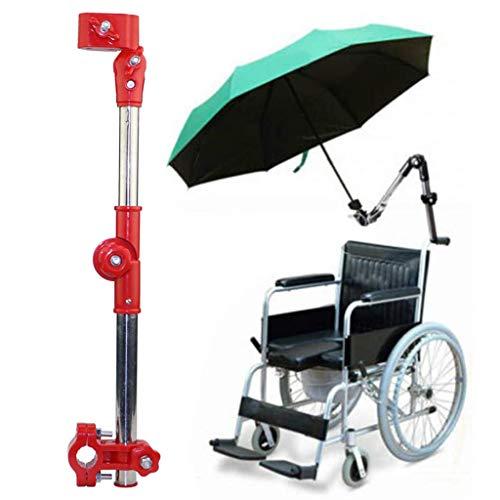 Multifunctionele RVS Paraplubak, Fiets Paraplubak, Kinderwagen, Elektrische Auto Paraplubak Verstelbare Buiten Paraplubak, Paraplubak Houder, voor Rolstoelen,Red