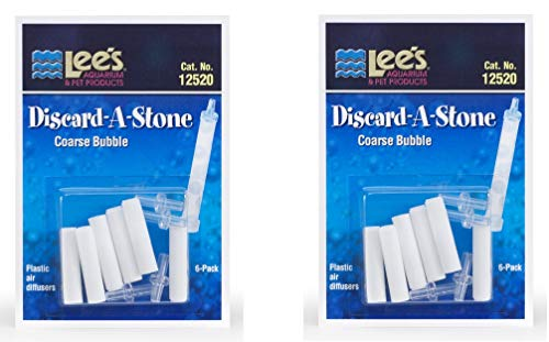 Lee's Aquarium Discard-A-Stone Plastic Air Diffusers, Coarse Bubble … (12 Count)