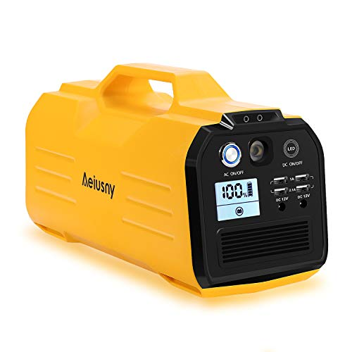 Aeiusny Solar Powered Battery Rechargeable Generator