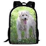 QQIAEJIA Perro prado verde Infierno moda al aire libre de hombros bolsa Durable el viaje de camping mochila para Aldult unisex