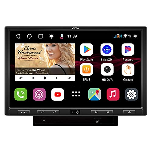 [DAH10D/10.1inch QLED Display] ATOTO S8 Ultra Plus in-Dash Video Receiver - S8G2109UP-N Dual Bluetooth w/aptX HD,Gesture Operation, Wireless Phone Link,VSV&LRV,Built-in 4G Cellular Modem, 6GB+128GB