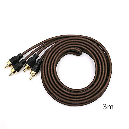 XuBa au、diokabel au、diophile au、diokabel Cinch-Verstärker TV DVD Subwoofer Lautsprecher HiFi-Kabel braun 3 Meter Dunkelbraun mit Farbe