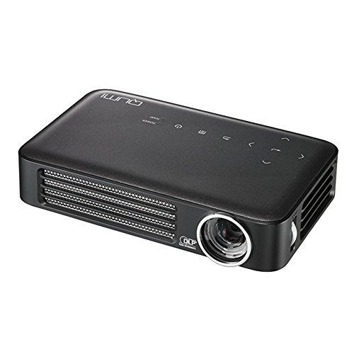 vivitek Qumi Q6, kompakter LED-Projektor im Taschenformat, 800 Lumen, Wireless, 1280x800 Pixel, Beamer mit 2.5GB interner Speicher, HDMI und USB Eingang, anthrazit