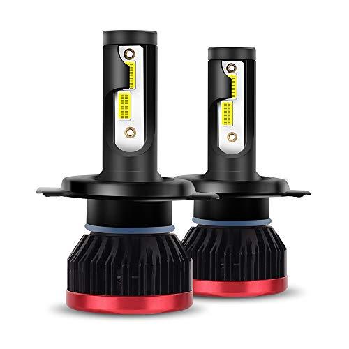 H1 LED ampoules de phare, phare de voiture 72W 8000LM 6500K COB puces, Kit de conversion de phares antibrouillard, Faisceau/Faisceau, ampoule avant automatique blanche