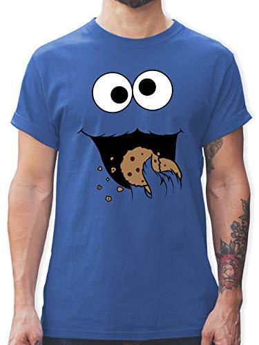 Karneval & Fasching - Keks-Monster - XXL - Royalblau - t-Shirt Herren witzig - L190 - Tshirt Herren und Männer T-Shirts