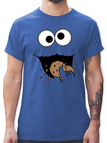 Karneval & Fasching - Keks-Monster - XL - Royalblau - Tshirt kruemelmonster Damen - L190 - Tshirt Herren und Männer T-Shirts