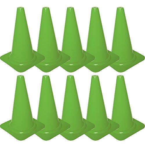 Cawila Markierungskegel 10er, Höhe 23cm, Grün, 00930062