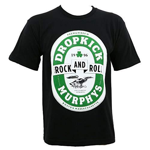 Dropkick Murphys Shamrock and Roll Caps Beer Label T-Shirt S-3Xl