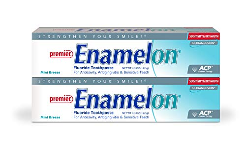 Enamelon Fluoride Toothpaste-2 Pk-Protection Against Painful Sensitivity-Helps Prevent Gingivitis- Promotes Remineralization & Inhibits Demineralization-Soothes & Moisturizes Dry Mouth Tissues