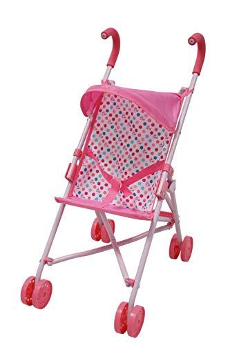 Black Handles and Hot Pink Frame Precious Toys Hot Pink Umbrella Doll Stroller 0128A Homeco PT0128A