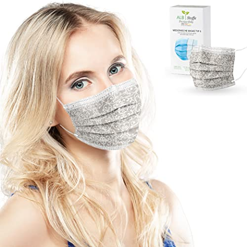 ALB Stoffe® ProtectMe - OP Masken DECOR, 100% Made in Germany, zertifizierte medizinische Mund-Nasen-Masken bedruckt, 20er Pack