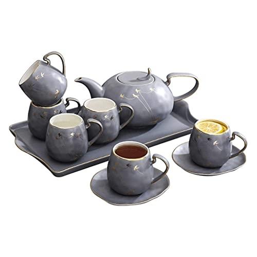 FGDSA Tea Set Ceramic Coffee Cup Set Home Living Room Tea Set Afternoon Tea Set Tea Gift Sets (Color : B)