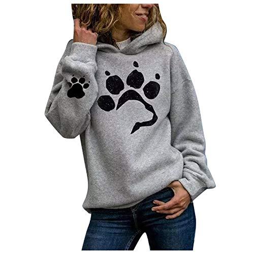 riou Sudadera con Capucha para Mujer Talla Grande Hoodie suéter para Mujer...
