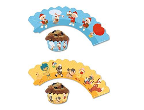 12 Deko-Banderolen für Muffins und Cupcakes * SANDMÄNNCHEN * für Kinderparty und Kindergeburtstag   Sandmann Pappteller Partyteller Party Set