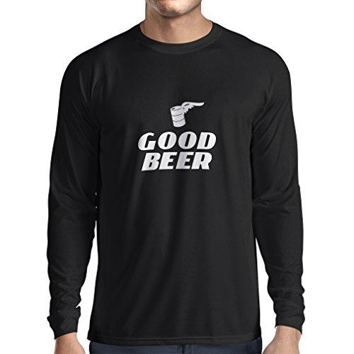 lepni.me Herren T Shirts Ich Brauche EIN gutes Bier, Geschenk für Bierliebhaber Partykleidung (XX-Large Schwarz Weiß)