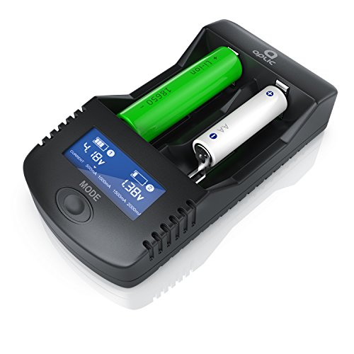 CSL Power Akku Ladegerät - Universale Akku Ladestation - Batterieladegerät - Mikroprozessorgesteuerte Ladetechnologie - wiederaufladbare NiCd NiMH Liion Akkus AA AAA A SC C 26650 22650 26500 18650