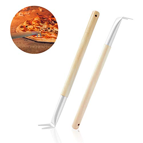 Aluminum Turning Pizza Peel Paddle, 9 inch diameter Blade, Long 31.5' Handle with Leather Strap -...