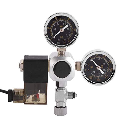 CO2-regelaar - CO2-regelaar Aquarium, CO2-drukregelaar-magneetventiel met twee manometers voor het aquariumsysteem