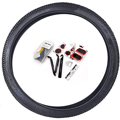 LDFANG Neumáticos para Bicicleta, 24x1.95 26x1.95 26x2.1, Unisex Adulto, Negro,26 * 2.1