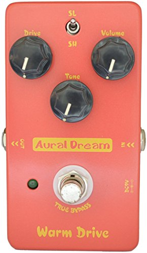 Aural Dream Warm Drive Guitar Effect Pedal includes Low-gain comfortable warm Overdrive for 2 Drive modes,True Bypass.