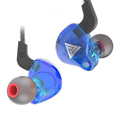 QKZ 1 par auricular atado con alambre de 3,5 mm en la oreja los auriculares con cable en la oreja Tipo de auricular de teléfonode alta fidelidad de sonido auriculares para MP3 MP4 de la tableta, azul
