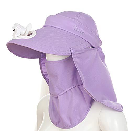 KHXJYC Sombrero para El Sol para Adultos, Gorro De Malla para Exteriores con Ventilador, Sombrero para El Sol Grande Recargable para Tierras De Cultivo con Aleros,#3
