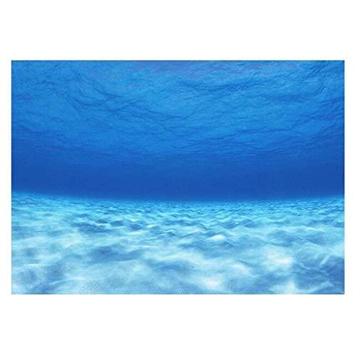 B Blesiya Einseitig Hintergrund Aquarium Poster - Unterwasser, 122 x 46 cm