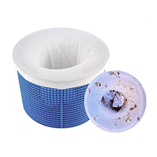 Chnaivy Calzini per Skimmer da Piscina Calzini con Rete in Nylon Perfetti Risparmiatori di Filtri per Proteggere i Filtri Cestini Skimmer (Confezione da 10)