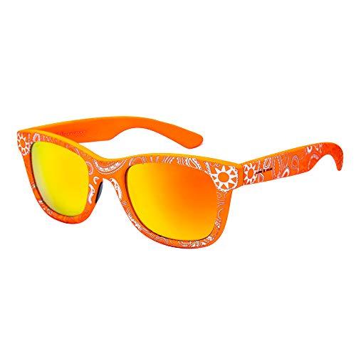 ITALIA INDEPENDENT 0090GG-055-000 Occhiali da Sole, Multicolore (Naranja/Bianco), 50.0 Donna