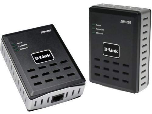D-Link DHP-201 PowerLine Ethernet Starter Kit, 85Mbit/s HD Ethernet Adapter (netwerk uit het stopcontact)