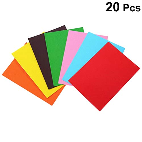 SUPVOX 20 piezas A4 Ondulado Cartón Corrugado Cojinetes Compás Papel De Construcción Para Manualidades Proyectos De Bricolaje (Color Mixto)
