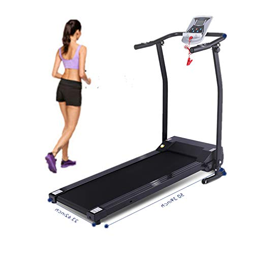 Flyerstoy Folding Electric Treadmill Exercise Equipment Walking Running Machine with 'Pacer Control' & Heart Rate System (1.5HP-Black) Treadmills