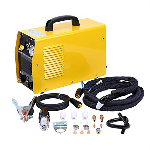 Iglobalbuy 110V/220V Air Plasma Cutter Welding Cutting Machine Dual Voltage Protable 50A DC Inverter CUT50 Inverter Digital Welding Machine